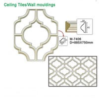 M-7406 Polyurethane Foam Ceiling Tiles for Indoor Ceiling Decoration