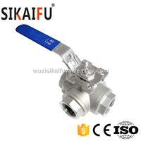 Stainless Steel L Port 3 Way Ball Valve