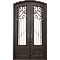 Eyebrow Arch Top Iron Door(JDL-1019)