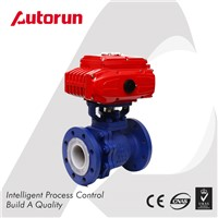 PTFE SEATED ELECTRIC FLANGED BALL VALVE