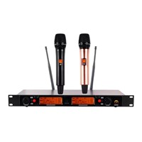 UHF System Wireless Karaoke Microphone Dual Channel Wireless Microphone