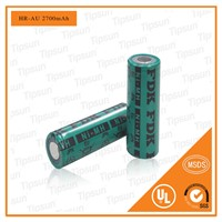 Authorized FDK HR-AU Battery 1.2V 2700mAh NI-MH Rechargeable Battery