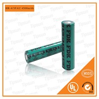 FDK 1.2V HR-4/3FAU 4500mAh 18670 Ni-MH Rechargeable Battery for Digital Product