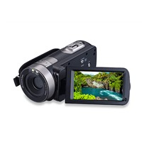 Portable1080p HD Video Camera 301STR with Touch Screen & IR Night Vision