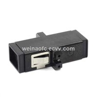 FTTH Fiber Adapter MTRJ Black Plastic Housing