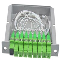 FTTH Optical Fiber PLC Card Cassette Splitter Box 1:8 1x8 SC/APC