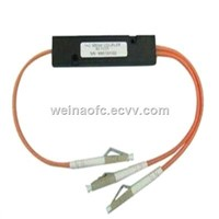 Fiber Optical 1:2 FBT Splitter LC/PC Multimode 850nm 1300nm Ratio Customize