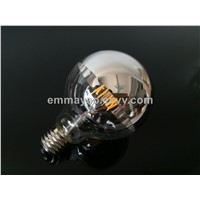 Global Half Mirror Filament LED Bulb Decorative LED Filament Bulb Dimmable G95