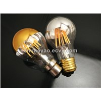 Golden Mirror Cover LED Filament Bulb for Home Decoration