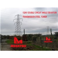 132KV DOUBLE CIRCUIT ANGLE DEVIATION TRANSMISSION STEEL TOWER