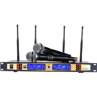 Ture Diversity UHF Wireless Microphone TD-870D Dual-Channel Four Antenna Receiver