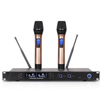 UHF Wireless Microphone System U-3800 Dual-Channel Receiver High Quality