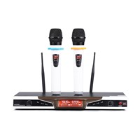 with Duel LCD Display VHF Wireless Microphone System Two Channel Available Receiver