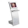 Slim Information Internet Kiosk with Infrared Touch Screen & Metal Keyboard