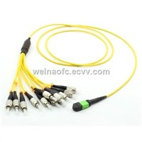 Fiber Optic Patch Cord Cable Distribution 12 Fibers MPO-FC UPC