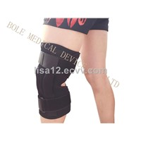 Hinged Neoprene Adjustable Knee Brace Support with Open Patella