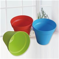 Round Plastic Flower Pots with Multicolor