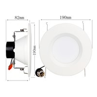 LED Downlight E26 6inches12W SMD2835 UL ES Aprroved