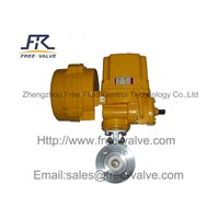 Electric Ceramic Lined V Port Ball Valve