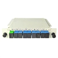 Fiber Optic LGX Card Insertion 1x8 PLC Splitter SC/UPC-SC/APC