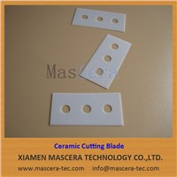 Three Holes Zirconia ZrO2 Ceramic Razor Blade for Plastic Film Cutting