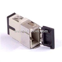 Fiber Optical Adaptor SC with Shutter Cover Beige Flangeless