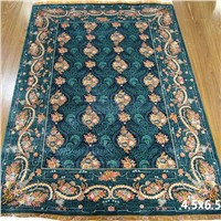 Handmade Turkish 100% Pure Silk Carpet Bedroom Hand Knotted Persian Area Rugs