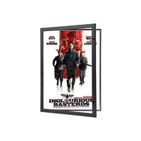 Black Locking Movie Poster Frame 27x40 Inches, Front Loading Display Case