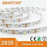 2017 Factory Supplier Single Color Warm White 3000K DC24V 2835 Low Voltage IP65 Waterproof LED Strip