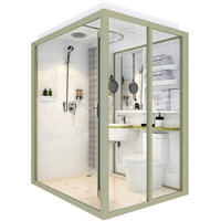 Ultra Watertight Mobile Bathroom, Toilet Shower Cabin, Whole Bathroom