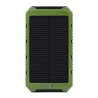 Portable Convenience 10000mah Charger Dual USB 12V Solar Power Bank