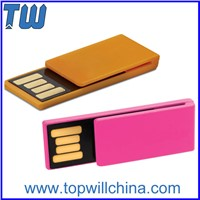 Office Plastic Paper Clip USB Flash Drive Pen Drive Slim Colorful Design