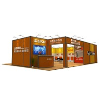 International Column Extrusion Prism Exhibition Stand Display Show Trade Fair Builder Producer Design with Exhibit Board