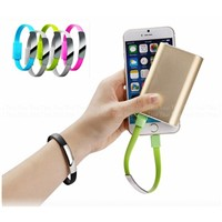 Gift Bracelet USB Charging Cable, Wearable Mobile Phone Data Cable