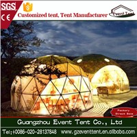 Beautiful Steel Structure White PVC Geodesic Dome Tent for Holiday