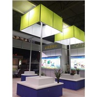 Exhibition Fabric Stand System Aluminium Material Board Producer Trade Show Graphics Backdrop
