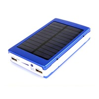External Battery Real Capacity Dual USB Solar Power Bank 8000mah