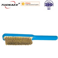Safety Tools Manufacturer Brass Brush with Wood Handle