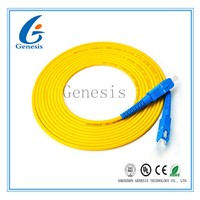 3.00mm 3M SC - SC Fiber Patch Cord, LSZH / PVC Jacket Fiber Optic Jumper Cables