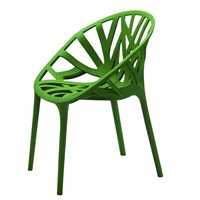Best Selling Nest Back Armchair Green Stackable Plastic Chair