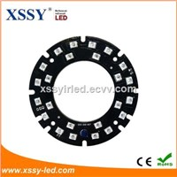 XSSY 24pcs Infrared LED 2835 SMD Module 850nm 59.5mm 14mil PCB Board Nigh Vision for CCTV Camera