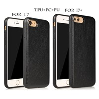 for iPhone 7/7Plus Ultra Thin Soft TPU with Anti-Scratch PC Material Case, Newest Leather Series