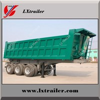 3 Axles Tipper Side Dump Semi Trailer for Heavy Duty Transporation