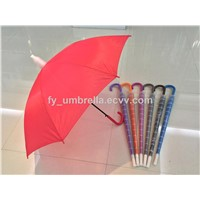 Auto Open Umbrella with Raindrop Cover