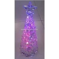 12inch LED Christmas Tree Light with Five-Pointed Star, Seven Colors Lamp