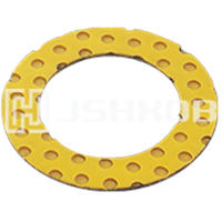 DX Thrust Washer, POM Slide Pads, Bronze/Steel+POM Thrust Washer