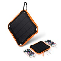 Window Dual 5V 2.1A USB Ports Solar Charger 5600mAh Solar Power Bank