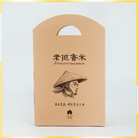 Competitive Price Recycle Customised Die- Cut Handle/DCK Craft Paper Bag for Food Packing Bag
