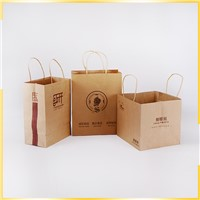 New Design Bigdegradable Dessert Customized Kraft Food Packaging Bag for Restaurant