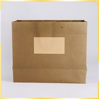 Promotional Strong Customized Solid & Button Recycled Paper Bag Design for Packaging
